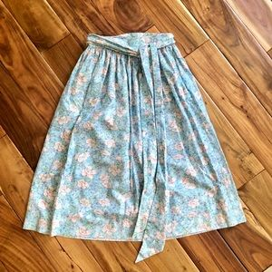 Blue Floral Skirt w Wrap